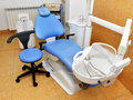 Dentist office with armchair and equipment Stock Images