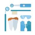 Dentist stomatology equipment vector illustration.