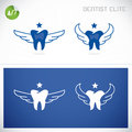 Dentist symbols vector with sticker Royalty Free Stock Photos