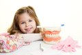 Dentist tool little girl with Royalty Free Stock Photos