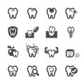 Dentist and tooth in action icon set, vector eps10 Royalty Free Stock Photo