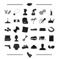 Dentistry, hairdresser and other web icon in black style.Egypt, landmark, pasta icons in set collection.