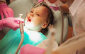 Dentistry little girl in Stock Image