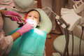 Dentistry little girl in Stock Photography