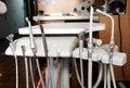 Zubaři nástroje na stůl zubní