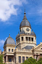 Denton county courthouse in denton texas old against blue sky copy space Stock Image