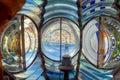 Dentro de la linterna del faro Fotos de archivo libres de regalías