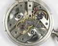 Dentro do relógio Imagens de Stock Royalty Free