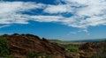 Denver city skyline red rocks park colorado Stock Fotografie