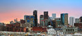Denver Colorado downtown skyline at sunset Royalty Free Stock Photo