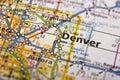 Denver, Colorado on map Royalty Free Stock Photo