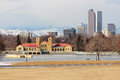 Denver skyline a view of the from city park in colorado Royalty Free Stock Images
