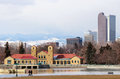 Denver skyline a view of the from city park in colorado Royalty Free Stock Photo