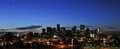 Denver sunrise city skyline Stock Afbeeldingen