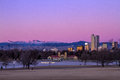 Denver Winter Skyline Jan 2013 Royalty Free Stock Image