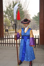Deoksugung palace royal guard changing seoul korea april participant at the ceremony on april in seoul is a tradition similar to Stock Photography