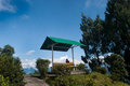 Deolo hill view point a breath taking landscape of park tourist kalimpong darjeeling india on green backdrop and blue sky Royalty Free Stock Photography