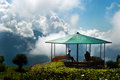 Deolo hill view point a breath taking landscape of park tourist kalimpong darjeeling india on green backdrop and blue sky Stock Photography