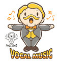 Department of vocal music mascot education and life character d design series Royalty Free Stock Photography