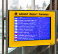 Departure board at the Bern train station Royalty Free Stock Photo