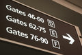 Departure gates sign Royalty Free Stock Photo
