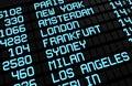 Airport Board International Destinations Royalty Free Stock Photo