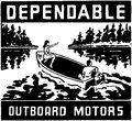 Dependable outboard motors Stock Photos
