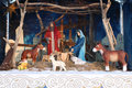 Depiction of Nativity of Jesus Royalty Free Stock Photo