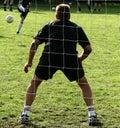 Deporte, encargado de la meta Foto de archivo libre de regalías