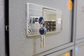 Deposit box with key Royalty Free Stock Photo