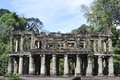 Depositarry of buddhist texts in preah khan cambodia Stock Photos