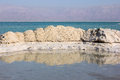 Deposits of mineral salts dead sea israel typical landscape the Stock Images