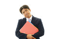 Depressed asian businessman tired and stressed Royalty Free Stock Images