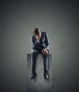 Depressed businessman business problem portrait of a Stock Photos