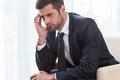 Depressed businessman. Royalty Free Stock Photo