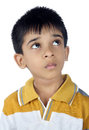 Depressed indian boy looking up little Royalty Free Stock Images