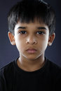 Depressed indian little boy with expression Royalty Free Stock Photography