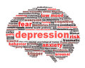 Depression conceptual design isolated on white Royalty Free Stock Photography