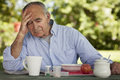 Depression Of A Senior Man Royalty Free Stock Photo