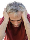 Depression sick man Royalty Free Stock Photo