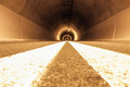 Depth of road tunnel Royalty Free Stock Image