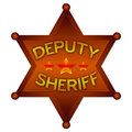 Deputy Sheriff abstract badge Royalty Free Stock Photo