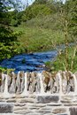 Der Fluss Barle in Simonsbath, Exmoor Stockfotos