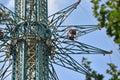 The big amusement park `Prater` in Vienna, Austria, Europe Royalty Free Stock Photo
