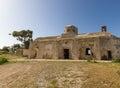 Derelict agios georgios church in davlos cyprus village image taken spring Royalty Free Stock Photography