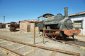 Derelict and rusting steam train in Humberstone, Chile Royalty Free Stock Photo