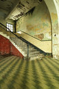 Derelict staircase old school in penang malaysia Royalty Free Stock Photos