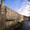 Derelict Stone Textile Mill in Yorkshire Royalty Free Stock Photo
