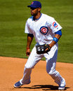 Derrek lee dei chicago cubs Fotografia Stock