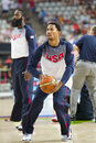 Derrick rose of usa team at fiba world cup basketball match between and mexico final score on september in barcelona spain Royalty Free Stock Photo
